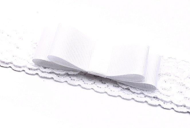 Faixa Renda Branca com Laço Chanel Roana