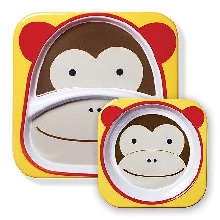 Set de Pratos Skip Hop Zoo Macaco