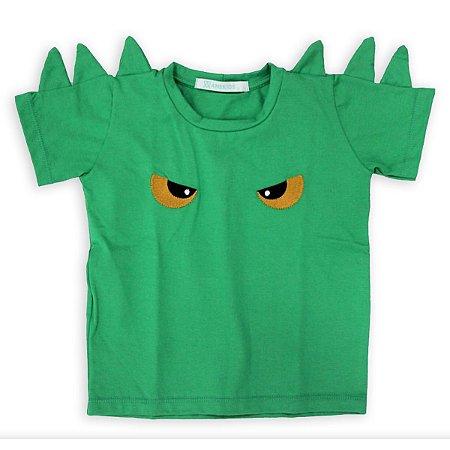 Camiseta Infantil Escamas Verde - Tamanhos 1 a 6