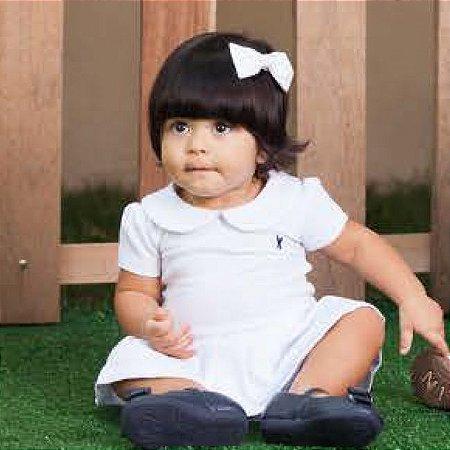 Vestido Body Piquet - Baby Girl Smooth - Branco - Tam P a G