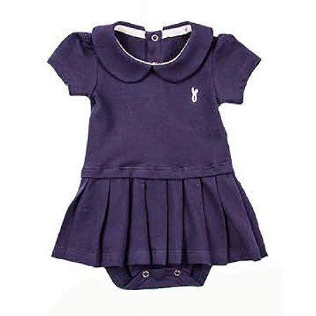 Vestido Body Piquet Baby Girl Smooth - Azul Marinho - Tam GG