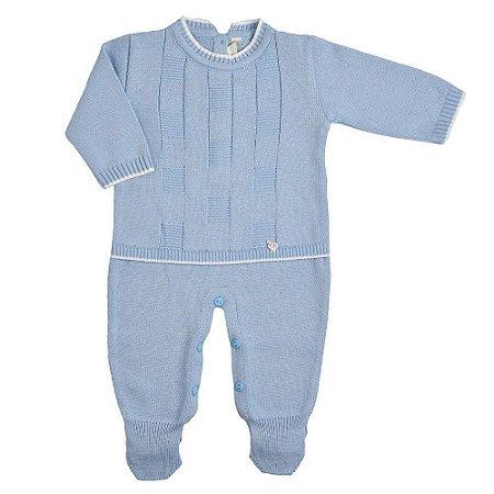 Saída de Maternidade Links Azul Claro