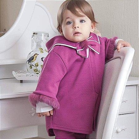 Capa Infantil Pele Magenta - Tamanho M