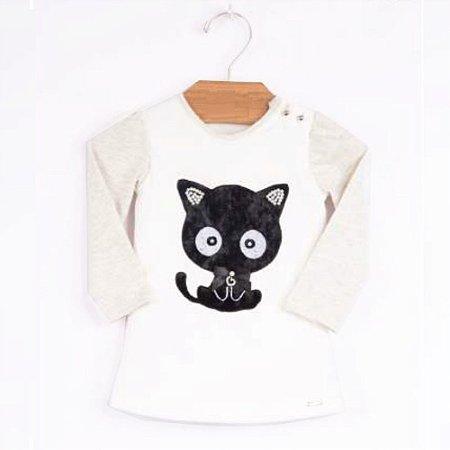 Blusa Infantil Gato - Tam G ao 3