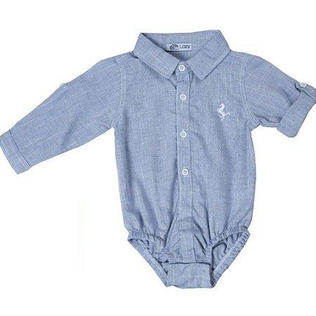 Body Camisa Manga Longa Azul Sport - P a G