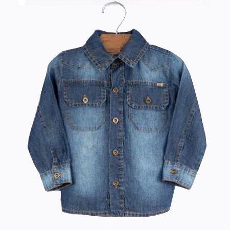 Camisa Jeans Infantil - Tam G a 3