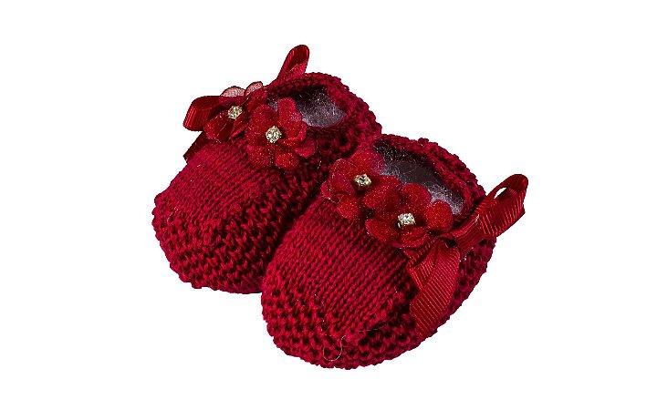 Sapatinho de Tricô Vermelho - RN - Roana