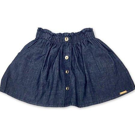Saia Jeans com Botões - Tam 2 ao 8