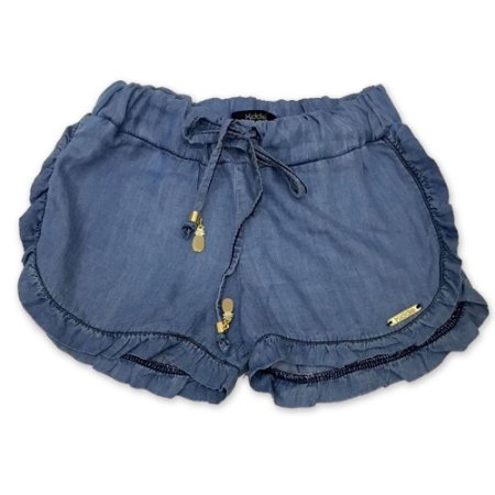 Shorts Jeans Babados - 2 a 8 anos
