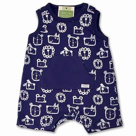 Macaquinho para Bebê Curto Bichinhos - Piu Piu - Tam P a GG