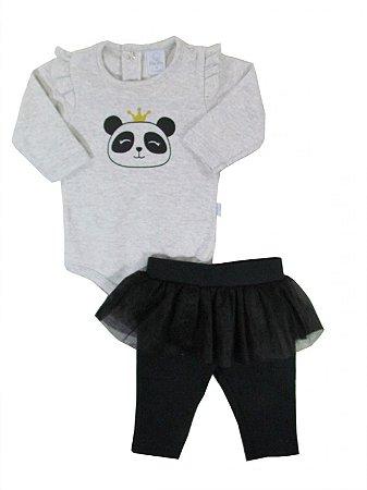 Conjunto Body e Calça Princesa Panda - Tam M a 2
