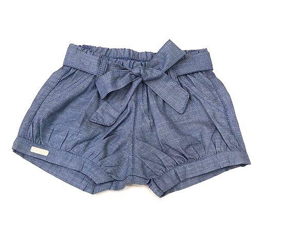 Shorts Bebê Feminino Jeans - Tam M ao 1