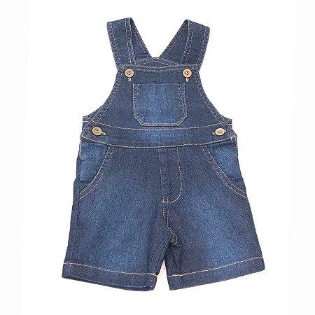 Jardineira Infantil Jeans - Tam GG ao 1