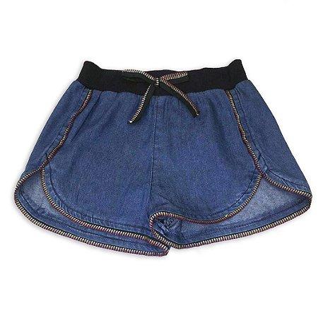 Shorts Jeans Infantil Feminino - Tamanho 1 a 6