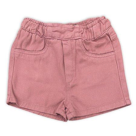 Short Infantil Feminino Color Rose - Tamanho 1 a 6