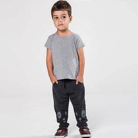 Camiseta Básica Infantil Cinza - Tam 1 ao 6
