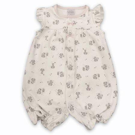 Macaquinho para Bebê Estampa Ursinhas - Algodão Egípcio - Tamanho G