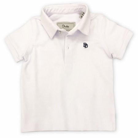Camiseta Polo Bebê Branca - Tam 0 a 24 meses