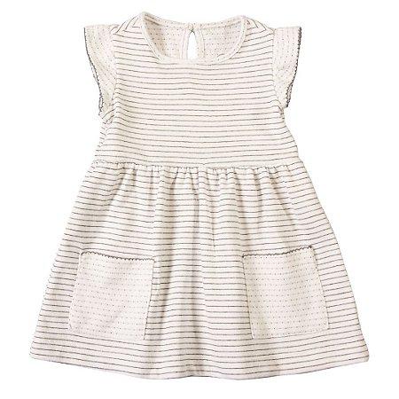 Vestido para Bebê Comfy Branco - Tam 3 a 24 meses