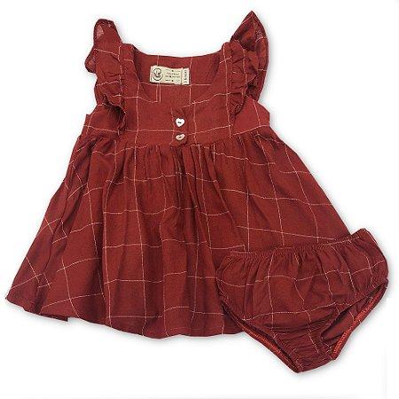 Vestido Infantil Party Vermelho - Tamanho 5-6 anos