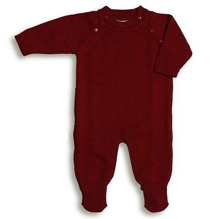 Macacão Saída de Maternidade Nervuras - Vermelho