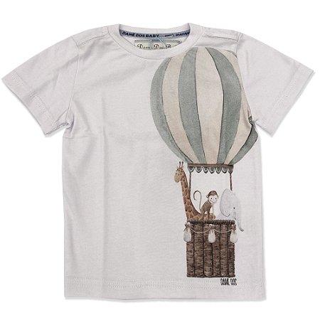 Camiseta Infantil Estampa Balão - Tam P ao 6