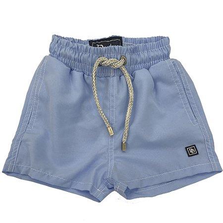 Shorts Infantil Nylon Azul Claro