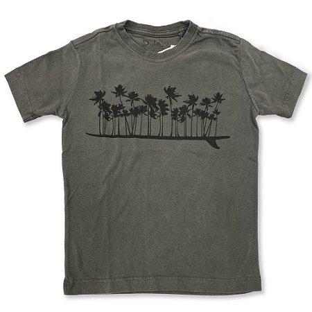 Camiseta Infantil Coqueiros Cor Chumbo