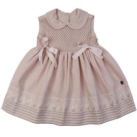 Vestido Margarida Linho Rose - Tam P a 6