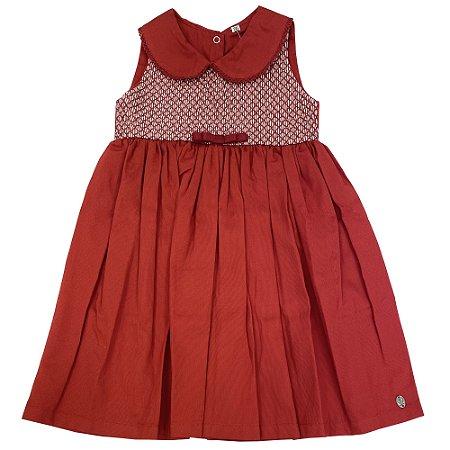 Vestido Casinha Fustao Vermelho - Tam GG a 6