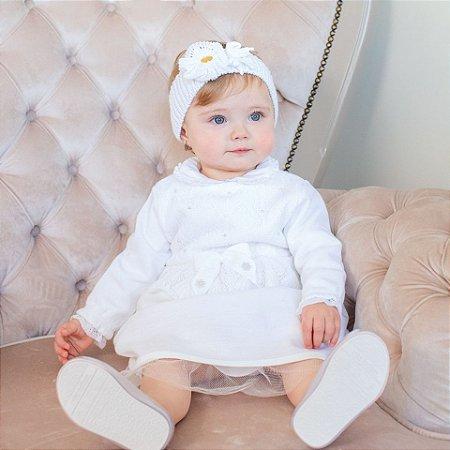 Vestido Batizado Branco - Tam P a G