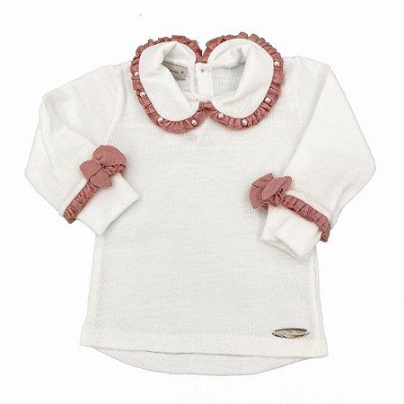 Blusa Bicolor Rosa Buque - Tam P a 3