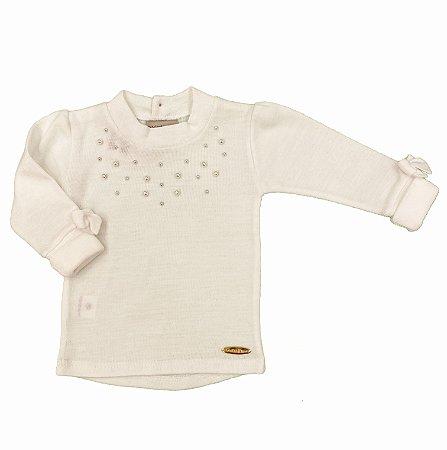 Blusa Pérolas Branca - Tam M a 3