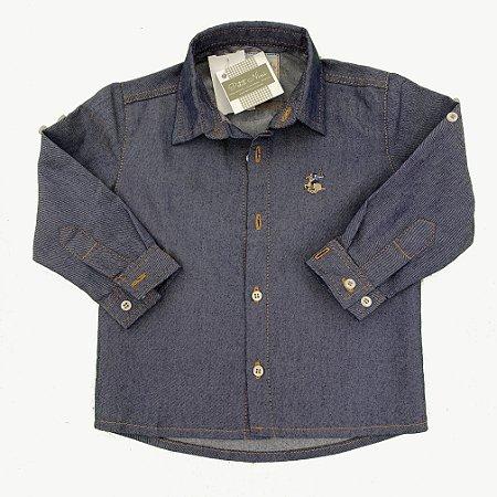 Camisa Infantil Jeans Marinho