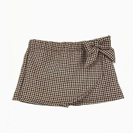 Shorts Saia Infantil Xadrez