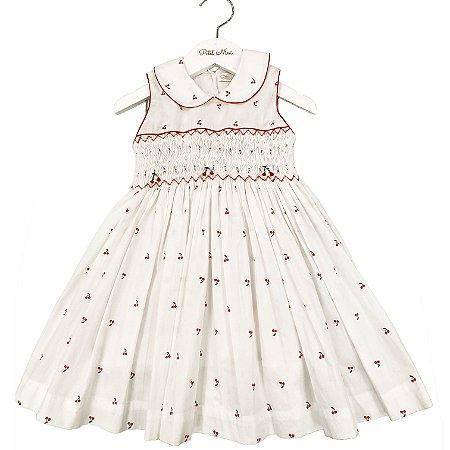 Vestido Casinha de Abelha Estampa Cereja