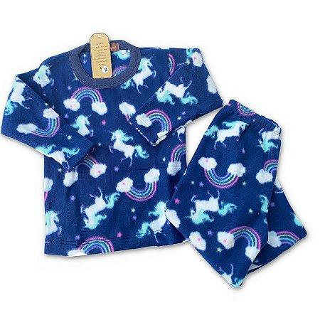 Pijama Infantil Soft Unicornio para Meninas