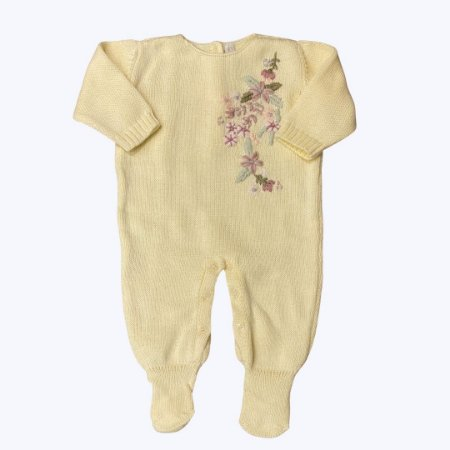 Macacão Saída de Maternidade Feminino Annecy - Amarelo - Tam RN