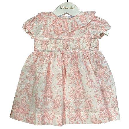 Vestido Floral Rosa - Tam 6 a 8