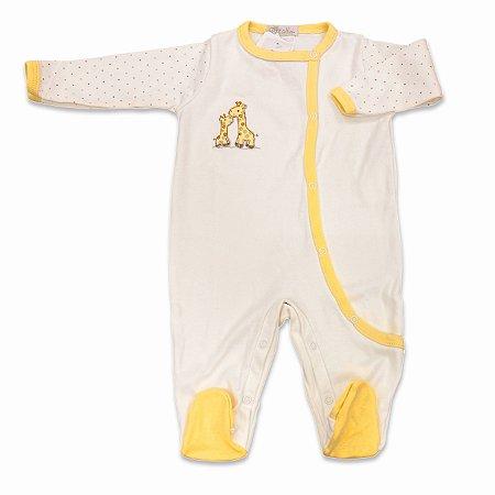 Macacão para Bebê Estampa Girafa - Algodão Egípcio - Tam P a M