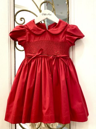 Vestido Casinha de Abelha Vermelho - Tam 1 ao 10