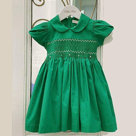 Vestido Casinha de Abelha Verde - Tam 1 ao 8