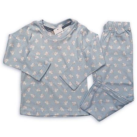 Pijama Infantil Suedine Estampa Ovelha Azul