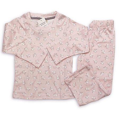 Pijama Infantil Suedine Estampa Ovelha Rosa