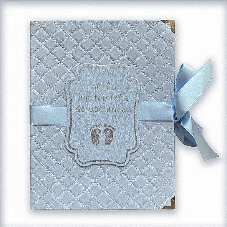 Porta Carteira de Vacinas Matelassê Azul