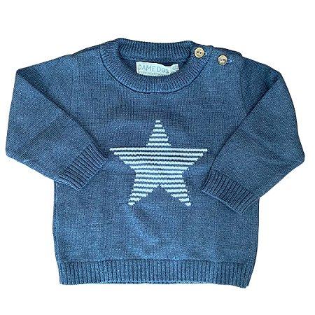 Malha de Tricô para Menino - Estampa Estrela