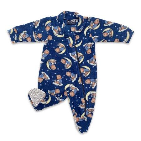 Pijama Macacão Soft Urso Marinho - Tam P a 1