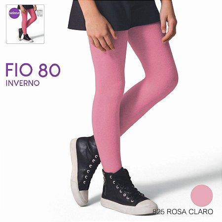 Meia Calça Infantil Fio 80 - Rosa