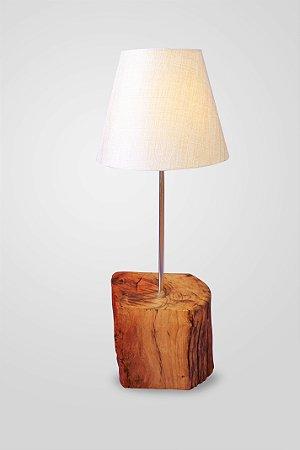 Abajur Bloco de madeira maciça /   1 E27