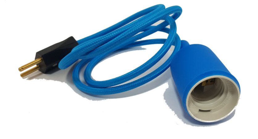 Pendente com soquete de acabamento em silicone + fio 1mts  /E27 - VARIAS CORES